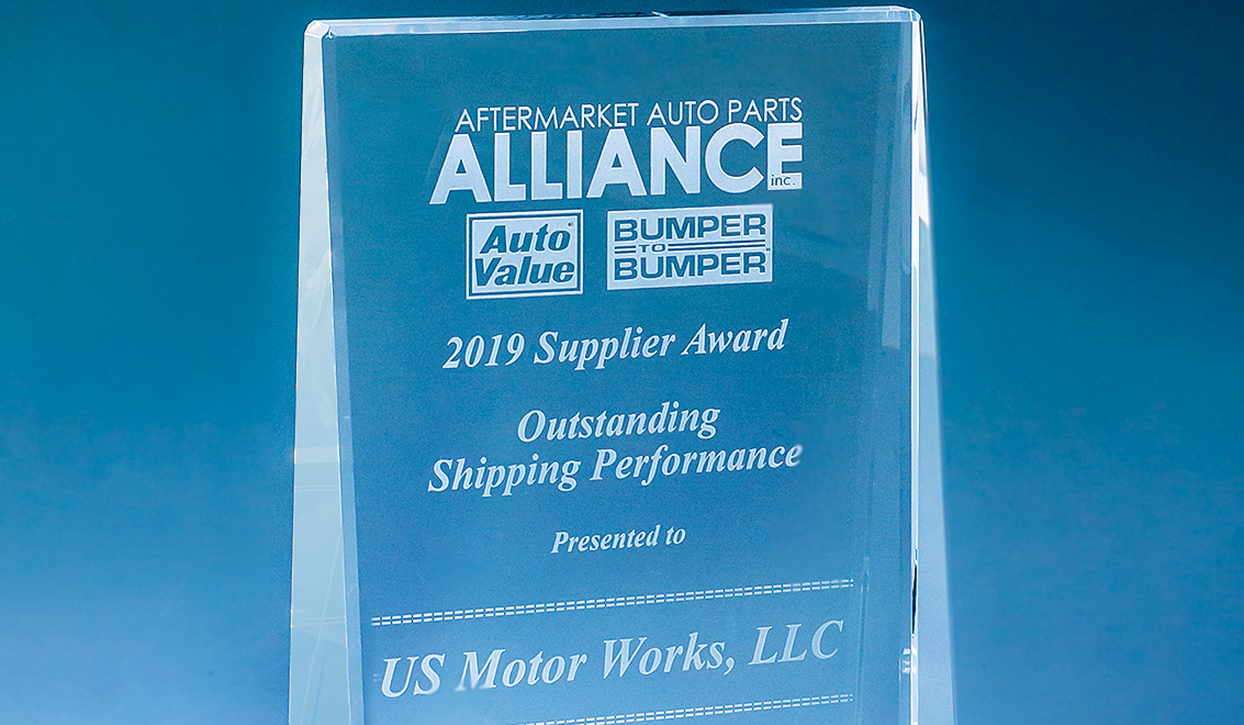 2019 Supplier Award from the Aftermarket Auto Parts Alliance
